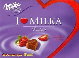 I Love Milka Erdbeer-Creme Pralinés