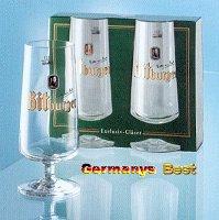 2 Bitburger Bier Glaeser