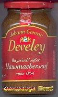 Develey Hausmachersenf -Bayerisch süß-