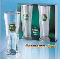 2 Diebels Bier Glaeser