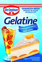 Dr.Oetker Gelatine gemahlen Weiss, 3 bags
