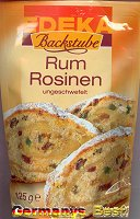 Edeka Backstube Rum Rosinen