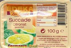 Edeka Backstube Succade Citronat -gewürfelt-