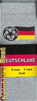 EM 2008 Socks Germany, Grey, Size 43-46, 3 pair