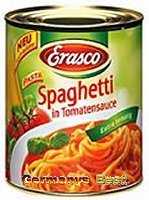 Erasco Spaghetti in Tomatensauce -extra tomatig-