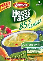 Erasco Heisse Tasse 85% Gartengemüse Suppe -Box-