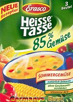 Erasco Heisse Tasse 85% Sommergemüse Suppe -Box-