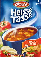 Erasco Heisse Tasse Tomate Mozzarella Suppe -Box-