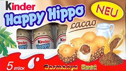 Ferrero Kinder Happy Hippo Cacao, 5 pieces