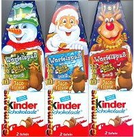 Ferrero 2x Kinder Schokolade with Card Game Box