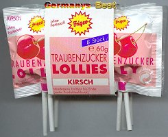 Frigeo Traubenzucker Lollies -Kirsch-