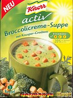 Knorr Activ Broccolicreme Suppe, Box