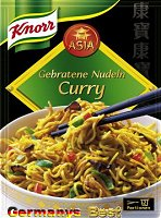 Knorr Asia Gebratene Nudeln Curry