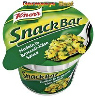 Knorr Snack Bar Nudeln in Broccoli-Käse-Sauce