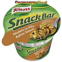 Knorr Snack Bar Nudeln in Pilz-Rahm-Sauce