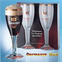 2 Koestrizer Schwarz Bier Glaeser