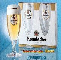 2 Krombacher Bier Glaeser