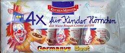 Kuchenmeister 4x Kinder Hörnchen -Nuss-Nougat-