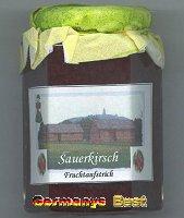 Kyffhäuser Sauerkirsch Fruchtaufstrich, 6 glasses