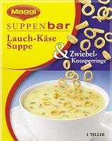 Maggi Suppenbar Lauch-Käse Suppe & Zwiebel-Knusperringe