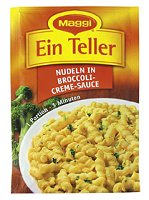 Maggi Ein Teller Nudeln in Broccoli-Creme-Sauce