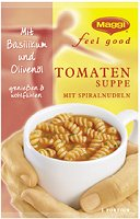 Maggi Feel Good Instant Tomaten Suppe mit Spiralnudeln