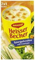 Maggi Heisser Becher Spargelcreme mit Croutons