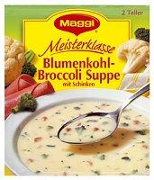 Maggi Meisterklasse Blumenkohl-Broccoli Suppe mit Schinken