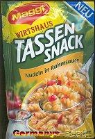 Maggi Tassensnack Nudeln in Rahmsauce
