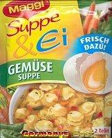 Maggi Suppe & Ei Gemuesesuppe