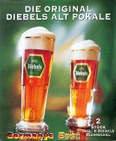 2 Diebels Glaeser mit 6 Bierdeckel