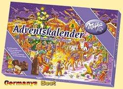 Milka Weihnachtskalender.Milka Adventskalender Motiv Nacht