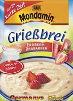 Mondamin Grießbrei Erdbeer-Rhabarber -For a short time-