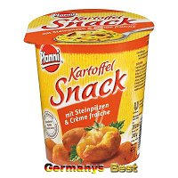 Pfanni Kartoffel Snack mit Steinpilzen u. Creme fraiche
