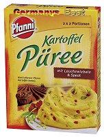 Pfanni Kartoffel Püree mit Lauchzwiebeln & Speck