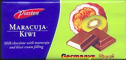 Piasten Maracuja-Kiwi Schokolade