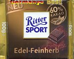 Ritter Sport Edel Feinherb 60% -Only for a short time-