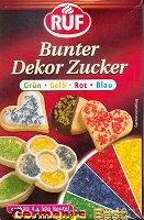 Ruf Bunter Dekor Zucker -Grün, Gelb, Rot, Blau-, 4 bags
