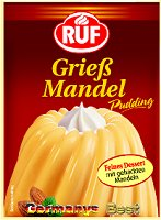 Ruf Griess-Mandel Pudding, 3 bags