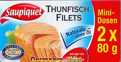 Saupiquet Thunfisch Filets 2x Mini-Dosen -Naturale-