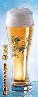 Weizenbierglass mit Straussdekor