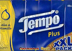 Tempo Plus mit Aloe Vera und Kamille XXL Pack , 48 pieces