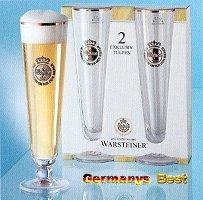 2 Warsteiner Bier Glaeser