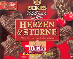 Wicklein Herzen & Sterne Lebkuchen -Edelkirsch-
