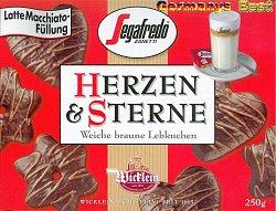 Wicklein Herzen & Sterne Lebkuchen -Segafredo-