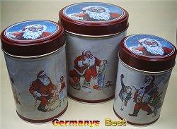 Heitmann Rundosenset (3 Stueck) -Serie Santa-
