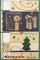 Heitmann 10 Weihnachtskarten mit Umschlag -Handmade-